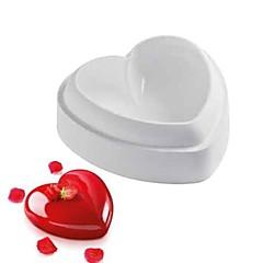bageform Hjerte Til Kage Til Chokolade Silikone Gør Det Selv 3D Høj kvalitet Nonstick Miljøvenlig Valentinsdag