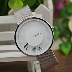 Damers Unisex Modeklocka Unik Creative Watch Quartz / Legering Band Fritid Vit Vit Svart