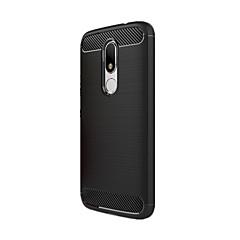 Mert Ütésálló Case Hátlap Case Egyszínű Puha Szénszál mert Motorola Moto G3 MOTO G4 Moto G4 Plus Moto G4 Play