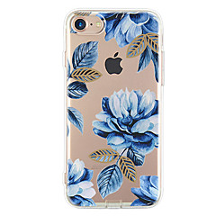 For Ultratyndt Mønster Etui Bagcover Etui Blomst Blødt TPU for Apple iPhone 7 Plus iPhone 7 iPhone 6s Plus/6 Plus iPhone 6s/6