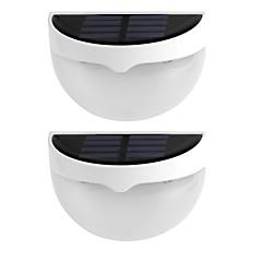 2szt światło słoneczne wodoodporna IP55 6 doprowadziły światła słonecznego na zewnątrz kinkiety oświetlenie dekoracji domu ciepły biały