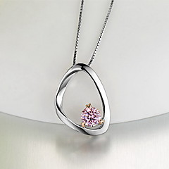 Pendants Sterling Silver Zircon Cubic Zirconia Basic Unique Design Fashion Silver Jewelry Daily 1pc