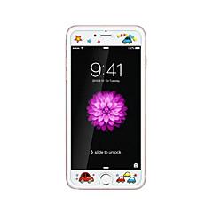 voor Apple iPhone 6 / 6s plus 5.5inch gehard glas transparante voorkant screen protector met reliëf cartoon patroon glow in the dark vogel