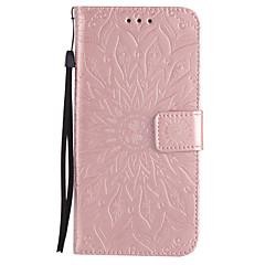 For Pung Kortholder Med stativ Flip Præget Mønster Etui Heldækkende Etui Mandala-mønster Hårdt Kunstlæder for Samsung Note 5 Note 4 Note 3