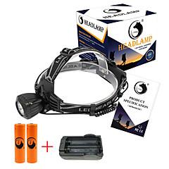 פנסי ראש LED 2000 Lumens 3 מצב Cree XM-L T6 18650 גודל קומפקטימחנאות/צעידות/טיולי מערות שימוש יומיומי רכיבה על אופניים ציד טיולים עבודה