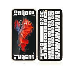 til Apple iPhone 6s / 6 4,7 hærdet glas med blød kant foran skærmen fuld skærm dækning beskytter og rygbeskytter keyboard mønster