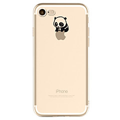 Para iPhone X iPhone 8 iPhone 7 iPhone 6 Funda iPhone 5 Carcasa Funda Diseños Cubierta Trasera Funda Logo Playing With Apple Oso Panda