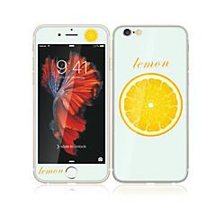 iPhone 6s plus / 6 plus 5,5 karkaistua lasia pehmeällä reunaan peittää koko näytön edessä näytön suojakalvon ja selkäsuoja sitruuna