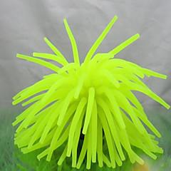 Aquarium Decoratie Koraal Niet-giftig & Smaakloos Siliconen Geel