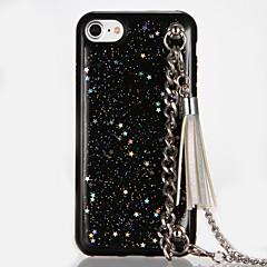 For Glitter Shine Case Soft TPU Drop Glue Stars Chain tasse Back Case for Apple iPhone 7 Plus iPhone 7 iPhone 6s Plus iPhone 6 Plus iPhone 6s iPhone 6