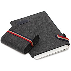For Apple MacBook 12 Inch Air 11.6 Sleeves with Charger Pack Laptop Bag Felt Simple Leisure Style Notebook Bag Solid Color