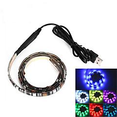 brelong usb 90cm 6.5w 500lm DC5V 5050 27 lampe vandtæt IP65 rgb tv / laptop baggrund lys med rgb farve