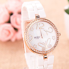 Fashion Watch Simulated Diamond Watch Quartz Alloy Band Casual Pink