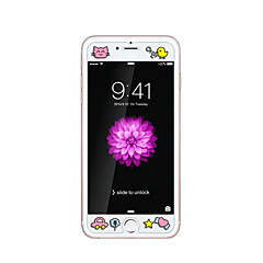 Apple iPhone 6 / 6s 4.7inch edzett üveg átlátszó elülső képernyő védő a domborít rajzfilm minta világít a sötétben csaj