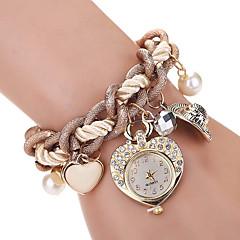 Mujer Niño Reloj de Moda Reloj de Pulsera Reloj Pulsera Cuarzo La imitación de diamante Brillante Aleación BandaCosecha Heart Shape