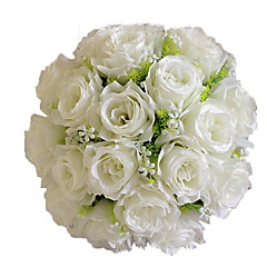 1 haara Polyesteri Ruusut Pöytäkukka Keinotekoinen Flowers 30*30*35