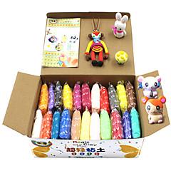 24 kpl / set DIY warna-Warni konyol dempul plastisin Anak untuk fimo polimer tanah LIAT