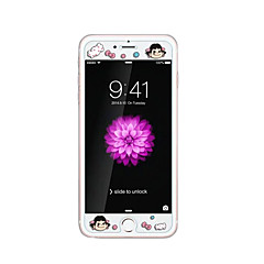 voor Apple iPhone 6 / 6s plus 5.5inch gehard glas transparante voorkant screen protector met reliëf cartoon patroon glow in the dark