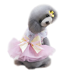 Koirat Hameet Smokki Koiran vaatteet Kesä Prinsessa Häät Muoti Vihreä Pinkki Vaalean sininen