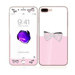 iPhone 7 plus 5,5 karkaistua lasia pehmeällä reunalla koko näytön kattavuuden edessä ja takana näytön suojus kaunis rusetti kuvio