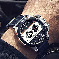 Herr Damers Barn Unisex Sportsklocka Militärklocka Frackur Modeklocka Armbandsur Armbandsklocka Quartz Kalender Vattenavvisande PunkÄkta