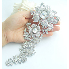 Wedding Accessories Silver-tone Clear Rhinestone Crystal Bridal Brooch Wedding Deco Orchid Flower Brooch Bridal Bouquet
