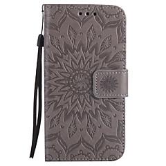 Voor Samsung Galaxy a5 a3 2017 pu lederen materiaal zon bloem patroon reliëf telefoon hoesje a5 a3 2016