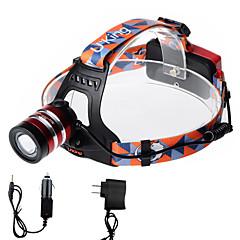 Torce frontali LED 2000 Lumens 3 Modo Cree XM-L T6 18650 Messa a fuoco regolabileCampeggio/Escursionismo/Speleologia Uso quotidiano