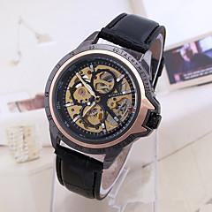 Hombre Mujer Unisex Reloj Deportivo Reloj de Vestir Reloj Esqueleto Reloj de Moda Reloj de Pulsera El reloj mecánico Cuerda Automática