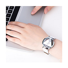 Women's Sport Watch Digital Watch Quartz Digital / Leather Band Vintage Black White Silver