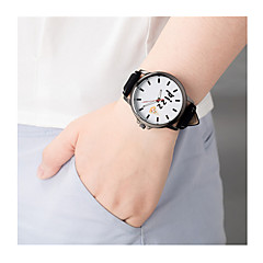 Men's Women's Sport Watch Quartz / Leather Band Vintage Black Brown