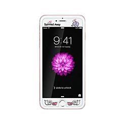 Apple iPhone 6 / 6s 4.7inch edzett üveg átlátszó elülső képernyő védő a domborít rajzfilm minta világít a sötétben élénk