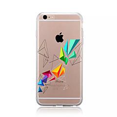 Pentru Model Maska Carcasă Spate Maska Model Geometric Moale TPU pentru AppleiPhone 7 Plus iPhone 7 iPhone 6s Plus/6 Plus iPhone 6s/6