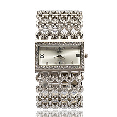 Damers Modeklocka Armbandsur Armbandsklocka Quartz Diamant Imitation Bergkristall Legering Band Eleganta Silver Guld RosguldGuld Silver