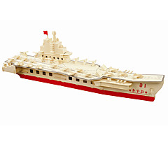 Jigsaw Puzzles DIY KIT Building Blocks 3D Puzzles Educational Wooden Liaoning Province Puzzles Building Blocks DIY Toys Aircraft Carrier