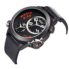 Masculino Relógio Esportivo Quartzo Silicone Banda Preta marca