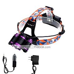 Lampes Frontales LED 6000 Lumens 4.0 Mode Cree XP-G R5 Cree XM-L T6 18650 Faisceau Ajustable Taille CompacteCamping/Randonnée/Spéléologie