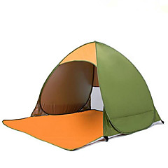 Other 2 사람 텐트 싱글 자동 텐트 원 룸 캠핑 텐트 1500-2000 mm 스테인레스 스틸(스테인레스 강) 망사 폴리 에스테르 태피터수분 방지 방수 호흡 능력 단열 자외선 저항력 비 방지 먼지 방지 안티 곤충 바람 방지 통풍 잘되는 울트라