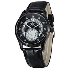 Hombre Mujer Unisex Reloj Deportivo Reloj de Vestir Reloj Esqueleto Reloj de Moda Reloj de Pulsera Cuarzo Cuero Auténtico BandaEncanto