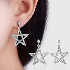 AAA Cubic Zirconia Geometric Star Earrings Jewelry Dangling Style Wedding Party Daily Casual Alloy Cubic Zirconia 1 pair Silver