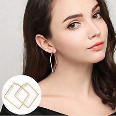 Ring oorbellen Sieraden Basisontwerp verklaring Jewelry Eenvoudige Stijl Legering Cirkelvorm Rechthoekige vorm Geometrische vormGoud