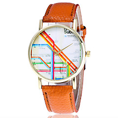 Women's Fashion Watch Wristwatch Quartz Multi-colored Creative Stripe Pattern Dial Top Brand Leather Band Cool Casual Unqiue Watches Relogio Feminino