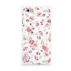 Για Λάμπει στο σκοτάδι Ανάγλυφη Με σχέδια tok Πίσω Κάλυμμα tok Λουλούδι Μαλακή TPU για AppleiPhone 7 Plus iPhone 7 iPhone 6s Plus iPhone