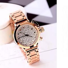 Mujer Reloj de Moda Resistente al Agua La imitación de diamante Cuarzo Japonés Rosa Oro Plateado Aleación Banda Cool Casual De LujoOro