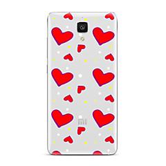 Mert Átlátszó Minta Case Hátlap Case Szív Puha TPU mert XiaomiXiaomi Mi 5 Xiaomi Mi 4 Xiaomi Mi 5s Xiaomi Mi 5s Plus Xiaomi Mi 3 Xiaomi