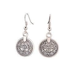 dingle øreringe Smykker Hængende Vintage Boheme Stil Euro-Amerikansk Legering Smykker Sølvfarvet Smykker For Daglig Afslappet 1 par