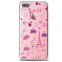 Mert Átlátszó Minta Case Hátlap Case Virág Eiffel torony Puha TPU mert AppleiPhone 7 Plus iPhone 7 iPhone 6s Plus iPhone 6 Plus iPhone 6s