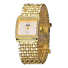 ASJ Dames Dress horloge Modieus horloge Armbandhorloge Gesimuleerd Diamant Horloge Japans Kwarts imitatie Diamond Strass Legering Band