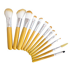 12 Brush Sets Blushkwast Oogschaduwkwast Wenkbrauwkwast Concealerkwast Foundationkwast Contour Brush Synthetisch haarReizen Beugel