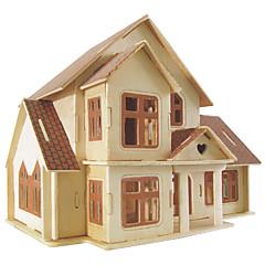 Jigsaw Puzzles DIY KIT Building Blocks 3D Puzzles Educational Little Villa Wooden Puzzles Building Blocks DIY ToysSquare Famous